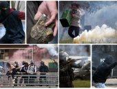 اشتباكات عنيفة بين المتظاهرين والشرطة فى كولومبيا للمطالبة بإقالة الحكومة