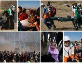 """استشهاد 2 وإصابة 241 فى جمعة """"ثوار من أجل القدس والأقصى"""""""