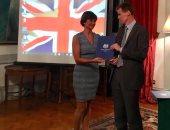 ماذا قالت يسرا اللوزى بعد تكريمها من السفارة البريطانية لتوعيتها بالإعاقات؟