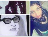 """""""حبيبة"""" ابنة الإسكندرية تبدع فى رسم مشاهير الفن: """"أريد أن أكون عالمية"""""""