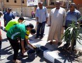 """صور.. """"مستقبل وطن"""" ينظم حملات نظافة وتجميل بمدن كفر الشيخ"""