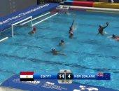 المنتخب المصرى يهزم نيوزيلندا 14-4 فى بطولة العالم للشباب لكرة الماء