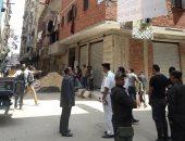 صور.. حملة مكبرة لإزالة العقارات المخالفة بالزيتون بدعم من قوات الأمن