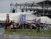 صور.. إلغاء حفل لفريق باك ستريت بويز  الغنائى فى أمريكا بسبب عاصفة