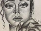 """إسراء تشارك """"صحافة المواطن"""" بلوحاتها الفنية وتحلم بالوصول إلى العالمية"""