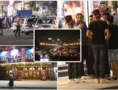 توافد المواطنين على وسط البلد لشراء ملابس العيد