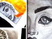 قارئة تشارك بصور للوحاتها المتميزة.. وتؤكد: حلمى ألتحق بكلية الفنون الجميلة