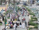 توافد المواطنين على الكورنيش فى ثانى أيام عيد الأضحى المبارك