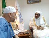 أمين عام رابطة العالم الإسلامى يلتقى مستشار أبو مازن وأمين الهيئة الأوروبية