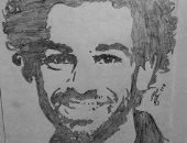 عبد الرحمن صيدلى بدرجة فنان و البداية مع رسمة بالرصاص لمحمد صلاح