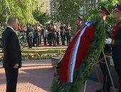فيديو.. بوتين يضع أكليلًا من الزهور على النصب التذكارى للجندى المجهول فى كورسك