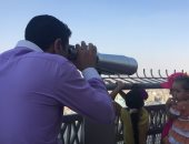 صور.. برج القاهرة يشهد توافد المحتفلين بعيد الأضحى