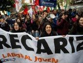 اشتباكات فى تشيلى بين الشرطة ومحتجين على قانون عمال الشباب