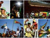 أنصار الرئيس الزيمبابوى يحتفلون بفوزه فى الانتخابات الرئاسية