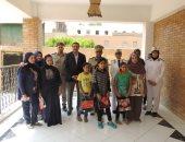 صور.. قسم حقوق الإنسان بمديرية أمن الشرقية يزور مؤسسة أيتام للبنات والبنين