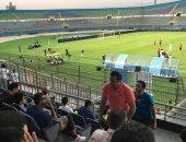 صور.. أيمن منصور يدعم نجله أمام الداخلية وبيراميدز يتقدم بهدف
