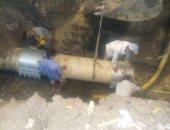 استجابة لصحافة المواطن.. مياه الجيزة تصلح كسر ماسورة مياه رئيسية بالبدرشين