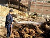 السيطرة على حريق داخل شونة تخزين غلال بقرية العزازية فى قنا