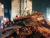 صور.. انهيار مبنى سكنى فى الهند والسلطات تبحث عن ناجين تحت الانقاض