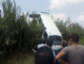 إصابة 6 أشخاص فى حادث انقلاب ميكروباص بصحراوى البحيرة
