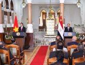 بث مباشر لوقائع المؤتمر الصحفى بين الرئيس السيسي ونظيره الفيتنامى