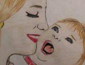 رقية تشارك برسوماتها ولوحاتها الفنية وتؤكد: أحلم بكلية فنون جميلة