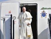 صور.. البابا فرنسيس يصل إلى دبلن فى ختام زيارته لأيرلندا