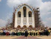 البابا تواضروس يستقبل المشاركين بملتقى شباب العالم قبل زيارتهم للأهرامات.. صور