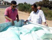 """صور.. ضبط 8 """"شكاير"""" دقيق مدعم وتحرير 10 مخالفات تموينية بأبو صوير"""