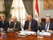 سامح شكرى يستقبل وزير خارجية السودان فى قمة تنفيذ اتفاقيات التعاون المشترك