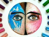 قارئة من المنوفية ترسل صورًا لأعمالها فى الرسم بالألوان
