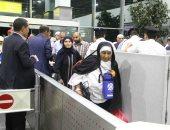 الفوج الثانى من حجاج غزة يصل القاهرة على متن طائرة مصرية خاصة