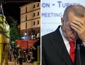 """فيديو وصور.. ألمانيا تلفظ """"أردوغان"""".. تمثال ذهبى للرئيس التركى يثير الغضب فى شوارع برلين.. سِجل الطاغية العثمانى فى الديكتاتورية والقمع يكشف أسباب إزالته.. والنظام يواصل الملاحقة الأمنية فى المؤسسة العسكرية"""
