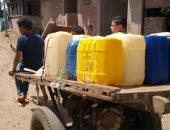 """مياه الشرب مقطوعة عن قرية بالدقهلية منذ عيد الأضحى والأهالى يلجأون إلى """"الكارو"""""""