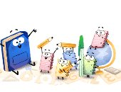 """بالكراسة والقلم.. """"جوجل"""" يحتفل ببدء العام الدراسى الجديد رغم تأجيله"""