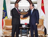السيسى مهنئا رئيس وزراء أثيوبيا بجائزة نوبل للسلام: فوز جديد لقارتنا السمراء