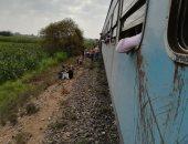 فيديو.. الصحة: إصابة 12 شخصا بحادث خروج قطار شبين الكوم والدفع بـ15 سيارة إسعاف