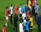 فيديو.. خناقة بين لاعبى الأهلى والإنتاج بعد انتهاء المباراة