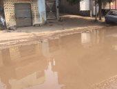 شكوى من غرق شوارع قرية السعيدية بمياه الصرف الصحى