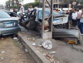 مصرع 2 وإصابة 9 آخرين فى حادث تصادم 3 سيارات بطريق جوزيف تيتو بالنزهة