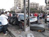 """""""النيابة"""" تنتقل لمعاينة حادث اصطدام ترام مصر الجديدة بـ 7 سيارات"""