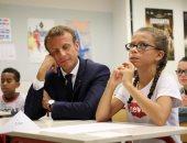 صور.. الرئيس الفرنسى يتفقد بعض المدارس مع بدء العام الدراسى الجديد