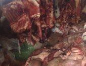 ضبط 650 كيلو لحوم غير صالحة للاستهلاك داخل مطعم بالنزهة