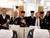 أول رحلة طيران ألمانية تضم طاقما كاملا من السيدات تصل السعودية