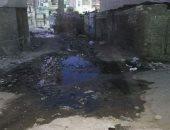 شكوى من انتشار مياه الصرف الصحى بشارع حسن صادق بحى الأربعين فى السويس