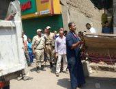 إزالة 342 حالة اشغالات وتعديات بشوارع سمسطا فى بنى سويف