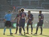 حرمان سان جيرمان من مبابى 3 مباريات بعد طرده خلال لقاء نيم