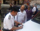 نشر الخدمات المرورية بمحيط تحويلات شارع جامعة الدول العربية منعا للزحام