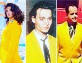 """هنيدى مداعباً غادة عادل: """"بتقلدينى فى لبس البدلة الصفراء"""""""