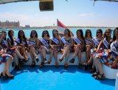 شاهد.. ملكات جمال العرب مصر فى جولة بحرية بالساحل الشمالى